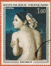 1967-Timbre France Obl-La Baigneuse-Ingrès-Stamp-Yv.1530-Réf.Ob47