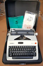 Olympia Sm8 Typewriter 1970s In Hard Case. High Quality Vintage Typewriter
