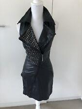 Monoreno Faux Leather Dress Black Size S