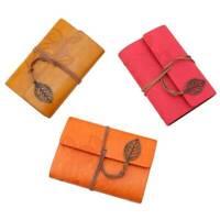 Notebook Retro Pendant Bandage Leaf Loose-Leaf Notebook Stationery Q