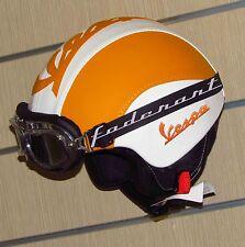 Casco in eco pelle vintage personalizzato vespa lambretta Moto Guzzi Harley Davi