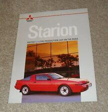 Mitsubishi Starion Turbo Brochure 1986