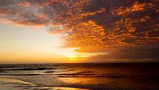 2017 16X20  PHOTO FIRE SUNSET BEACH MARCO ISLAND TIGERTAIL BEACH FLORIDA USA