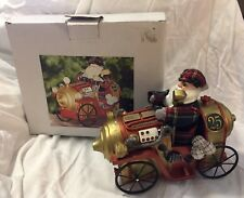Golfing Santa in Vintage Race Car by Sterling Clubs Holiday Decor Golf Gift