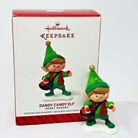 Hallmark Christmas Ornament Dandy Candy Elf 2014 Merry Makers