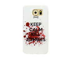 Custodia protettiva per Samsung Galaxy s6 Custodia Cover in Tpu Keep Calm and Kill Zombie