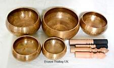 SET OF 5 CHAKRA THERAPY HEALING MEDITATION SINGING BOWL TIBETAN BUDDHISM NEPAL