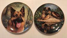 Dambury Mint The German Shepherd Pair Of Decorative Plates