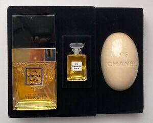 CHANEL NO 5 PARFUM 3,5 ML VOILE PARFUME 35 ML SOAP 99 G VINTAGE