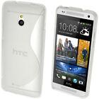S Line TPU Gel Skin Case Cover Holder for HTC One MINI M4 + Screen Protector