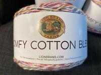 NEW Lion Brand Yarn Comfy Cotton Blend Yarn, Flower Garden (756-700)