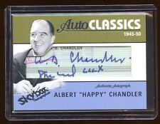 2004 SKYBOX AUTOGRAPHICS ALBERT *HAPPY* CHANDLER CUT SIGNATURE #D /25 NEVER SEEN