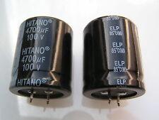 Hitano Electrolytic Capacitor 4700uf 100v 85'C ELP Snap in OL0465