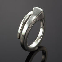 fa1c849838122f FASHION DESIGNER GUCCI STERLING SILVER LADY'S WRAP RING SIZE US6 MADE IN  ITALY