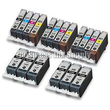 18 PACK PGI-220 CLI-221 Canon PGI-220 BK CLI-221 C/M/Y/BK Ink Cartridge NEW CHIP