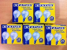 SES / E14 Small Screw In Clear Golf Light Bulb Lamp  25w  New  x  10