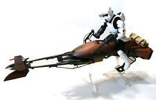 "Star Wars 12"" échelle 1/6th Biker Scout & Speeder Bike Présentoir Toy Figure, RARE"