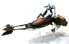 "Star Wars 12"" 1/6th escala Biker Scout & Speeder Bike Poseable Juguete Figura, Raro"