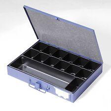 Dinzl Sortimentskoffer S50 Bügelspannverschluss 14fach Kleinteileeinsatz