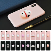 3D Squeeze Squishy Cartoon Kitten Claw Soft Silicone Phone Case Cover For Iphone