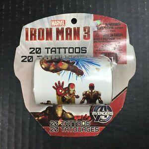 Marvel Super Heroes IRON MAN 3 The Movie Children's Temporary Tattoos X20