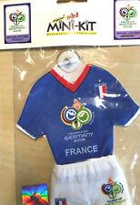 Frankreich France Mini Trikot Mini-Kit klein Fussball passend für WM18 EM