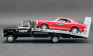 ACME 1:64 NICKEY 1967 Chevrolet Camaro Red & Chevy C-30 Ramp Truck DIecast 51270