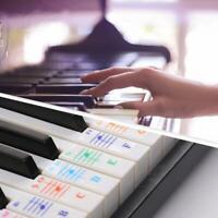 Transparenter Klaviertasten Aufkleber Klaviertastatur Lernen Aufkleber Werkzeug