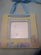 Baby Boy Birth Announcement Hanging Frame- Noah's Arc