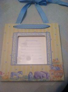 Baby Boy Birth Announcement Hanging Frame- Noah's Arc