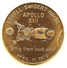 """NASA APOLLO 13 AMERICAN EXCEPTIONALISM """"BRING THEM BACK SAFE"""" BRONZE MINTED COIN"""