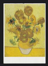 Vincent Van Gogh Sunflowers Zonnebloemen F 458 POSTCARD/ Card of the Art Artwork