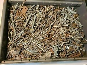 Around 11 lbs Pounds of Antique Vintage New Screws, Bolts, Nails, Etc.