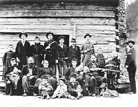1897 Photo of Members of the Hatfield Clan of the Hatfield-McCoy-Feud