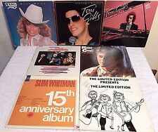 #74 Lot LPs+The Limited Edition SIGNED+Rodney Crowell PROMO+T.Gibbs+Slim Whitman