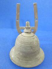 "c.1900 Antique 5.5"" Ship School ~Brass~ Horseshoe Mount India Bell w/ Verdigris"