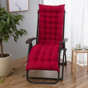 """61"""" Deck Chair Soft Cushion Lounge Chaise Sofa Padding Outdoor Indoor Recliner"""