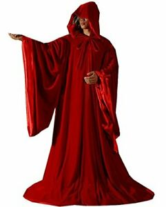 Velvet Wizard Robe Halloween Cloak Fancy Cosplay Costume