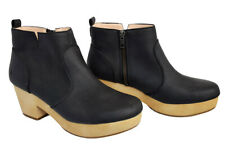 Old Navy Women's Black Ankle Boots Size 9 Chunky Heel Bootie Side Zip Shoes