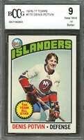1976 topps #170 DENIS POTVIN new york islanders BGS BCCG 9