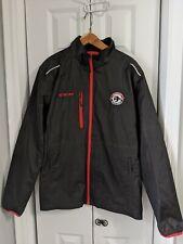 Men's CCM Hockey Jacket Size Large Windbreaker Waterloo Blackhawks