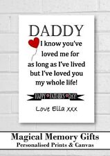 Love you whole Fathers day Dad gift print daddy grandad personalised a4 print