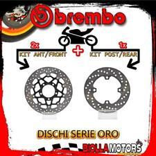BRDISC-4022 KIT DISCHI FRENO BREMBO KAWASAKI ZX 10 R 2007- 1000CC [ANTERIORE+POS