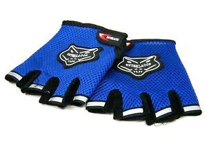 Fingerless Cycling Gloves Bike Bicycle Half Finger Mesh Sports Motorbike Road