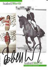 Autogramm AK Isabell Werth Reiten dressur 6 x Olympiasiegerin handsign. Rio 2016