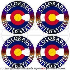 "COLORADO State USA, Coloradan America Vinyl Bumper, Decals Stickers 2""(50mm) x4"