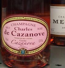 Lot revendeur destockage de 2 Bouteilles Champagne Rose Charles De Cazanove