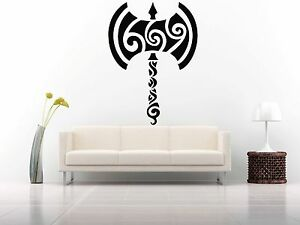 Wall Room Decor Art Vinyl Sticker Mural Decal Pattern Weapons Axe Labrys FI628