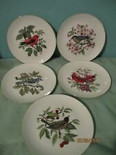 VINTAGE HORCHOW bird plates Japan SET OF 5