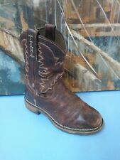 TONY LAMA YOUTH BROWN LEATHER TW903C RUGGED COWBOY WORK BOOTS size 13 D